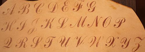 スタンプ字体見本