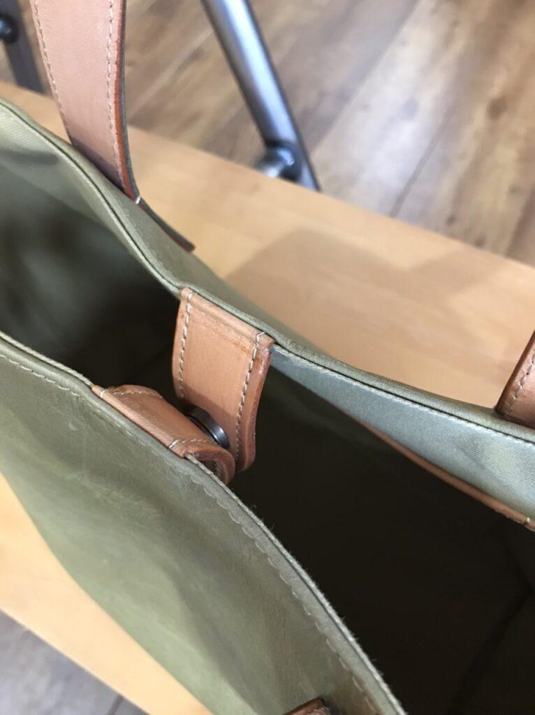 バッグの閉じ方ベロタイプ2